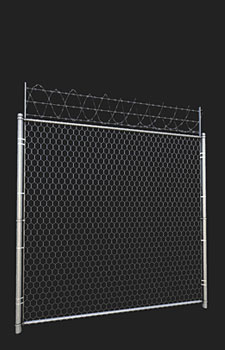 Modular Hexlink Fence - 1x1024x2048 Diffuse, Normal, and  Specular, 2x256² Diffuse, Normal and Alpha and 1x512x128 Diffuse, Normal and Alpha (resized by 50%)