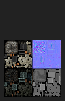 Modular Rubble Textures - 1x2048² Diffuse, Normal, Specular and Gloss (resized by 50%)