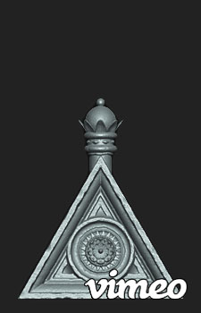 Zbrush 3.5r3 Timelapse of the Triangular Piece for my Jacobethan Style Fountain asset.