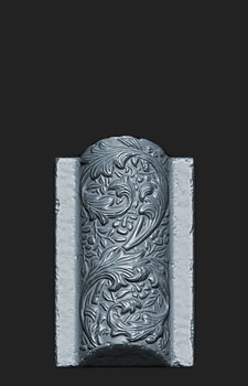 HP Zbrush sculpt of the Vaulted Bricks for my Jacobethan Style Fountain asset