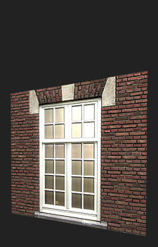 Window Texture - 2 Triangles, 1x2048² Diffuse, Normal, Specular, Gloss and Height