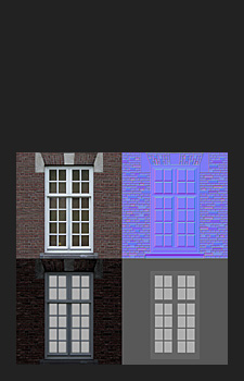 Window Textures - 1x2048² Diffuse, Normal, Specular, Gloss and Height used for Normal creation (resized by 50%)